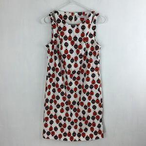 Trina Turk Ladybug Dress Size 0 Sleeveless